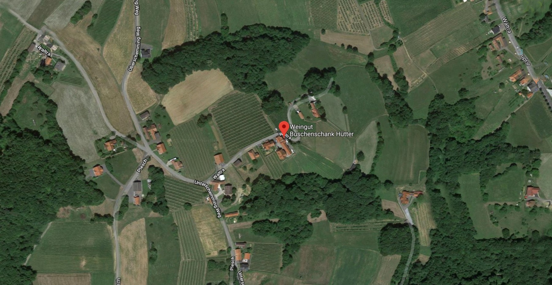 Route zum Buschenschank und Weingut Hütter